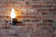 Old-fashioned sconce Stock Photos