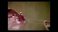 Alaska towing dingy 1937 Stock Footage
