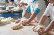 Stock Photo of working bakery team