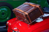 Stock Photo of old car trunk