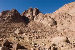 Stock Photo of mount sinai rocks