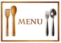Stock Photo of restaurant menu