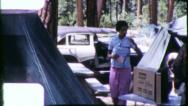 Black Family CAR CAMPING African American 1960s Vintage Film Home Movie 6228a Stock Footage