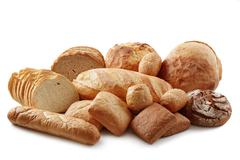 Stock Photo of various baking isolated on white background.