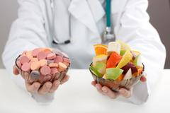 Stock Photo of vitamins from the doctor