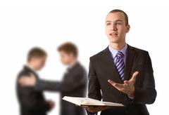preaching the gospel - stock photo