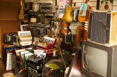 Antique Music Store Stock Photos