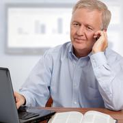 smiling christian businessman - stock photo