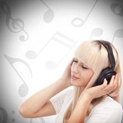 Stock Photo of enjoying music