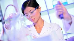 Research Assistants Working in Hospital Laboratory Stock Footage