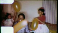 Black Children KIDS PARTY African American 1970s Vintage Film Home Movie 6230 Stock Footage