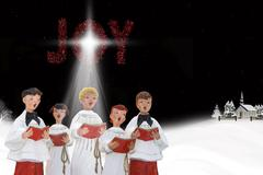 Christmas Carolers Stock Illustration