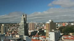 City View 6. Time lapse, rolling clouds. Sorocaba, Sao Paulo, Brazil. Stock Footage