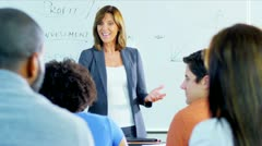 Multi Ethnic Adult Students College Class Stock Footage