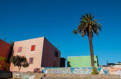 Pink Building in Historic Neighborhood - stock photo