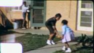 Black TEEN GIRL Little Sister African American 1970 Vintage Film Home Movie 6238 Stock Footage