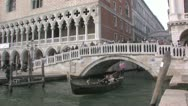 Stock Video Footage of Gondolas of Venice