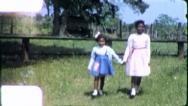 Black SISTERS Alabama African American 1970s Vintage Film Home Movie 6245 Stock Footage