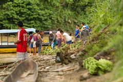Stock Photo of Puni Bocana, Ecuador - 23 November 2012: Puni Bocana Market Local People Gathers