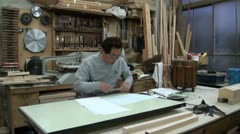 Classic workshop in the traditional city of Kyoto, Japan Stock Footage
