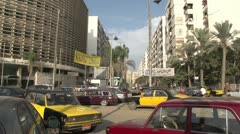 Street traffic in Alexandria parked cars Stock Footage