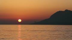 Sunset plane flight - stock footage