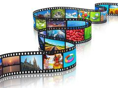 Streaming media concept - stock illustration