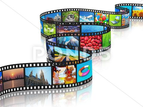Stock Illustration of Streaming media concept