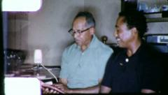 CHRISTIAN STUDY Black African American Bible 1970s Vintage Film Home Movie 6254 Stock Footage