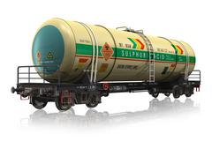 Chemical railroad tank car - stock illustration