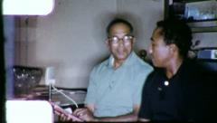 Black Family BIBLE STUDY African American 1970s Vintage Film Home Movie 6255 - stock footage