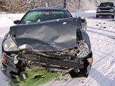 Stock Photo of car crash in winter