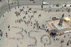 Quito, Ecuador - 12 August 2012: 350 Movement To Solve The Climate Crisis Made - stock photo