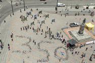 Quito, Ecuador - 12 August 2012: 350 Movement To Solve The Climate Crisis Made Stock Photos