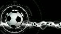 Soccer Ball Sport Background 27 (HD) - stock footage