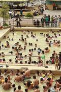 Banos De Agua Santa, Ecuador - 12 August 2012: People Relaxing In The Thermal Stock Photos