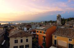 View of sirmione with lake garda Stock Photos