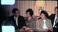 BLACK MARRIED COUPLES Relax African American 1970s Vintage Film Home Movie 6264 Stock Footage