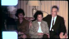 HUSBANDS WIVES Black African American Couples 1970s Vintage Film Home Movie 6265 Stock Footage