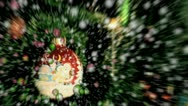 Christmas balls  and  snowflakes Stock Footage