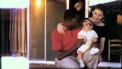 INTERRACIAL Family MARRIAGE Black White USA 1970 Vintage Film Home Movie 6270 Stock Footage
