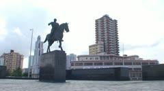 Havana, Statue of Calixto Garcia Stock Footage