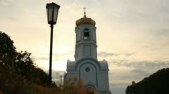 Small Russian church in the village 2 - stock footage