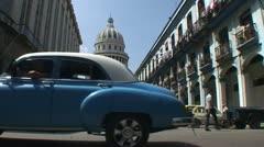 Havana, Streetview on the Capitolio Nacional Stock Footage