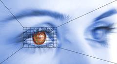 eye system security identification - stock photo