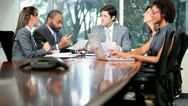 Ambitious Multi Ethnic Business Team Meeting Stock Footage