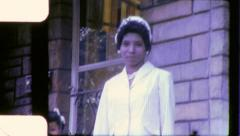 Black WOMAN African American Civil Rights 1960s Vintage Film Home Movie 6281 Stock Footage