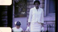 Black MOTHER DAUGHTER African American Women 1970s Vintage Film Home Movie 6282 - stock footage