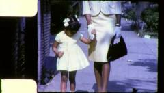 Black MOTHER DAUGHTER African American Women 1970s Vintage Film Home Movie 6283 Stock Footage