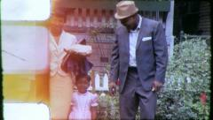 BLACK FATHER and Family MAN African American 1970s Vintage Film Home Movie 6284 - stock footage